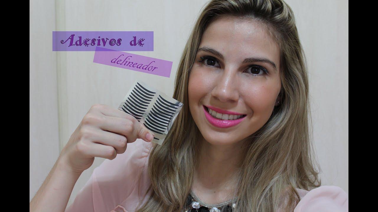 Artesanato Em Manaus ~ Adesivos de Delineador YouTube