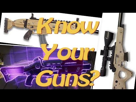 Fortnite Guess that Gun Sound Challenge! |All Guns|