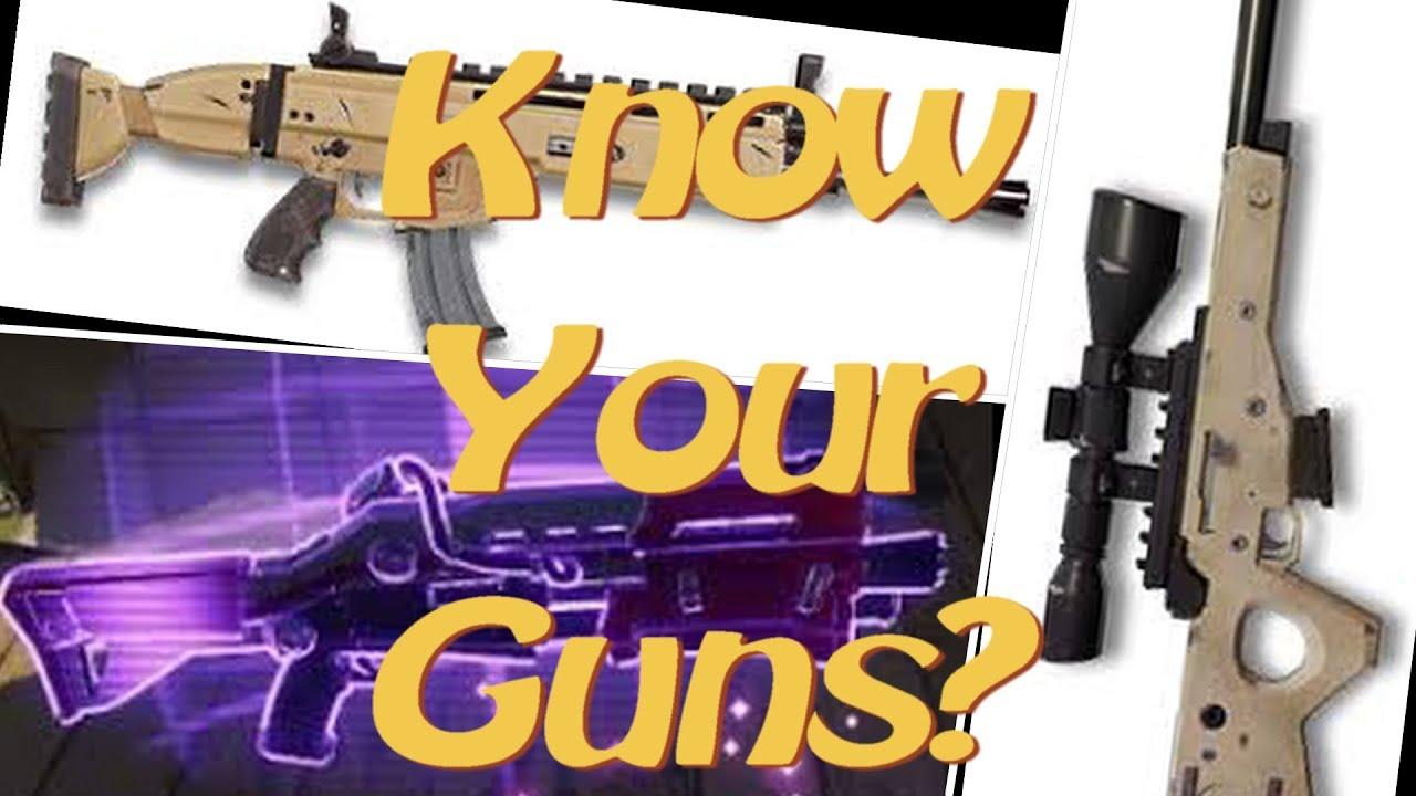 Fortnite Guess that Gun Sound Challenge!  All Guns 