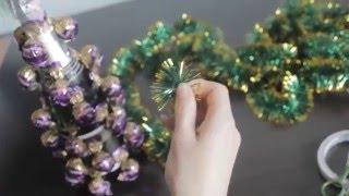 як зробити ялинку з цукерок майстер клас