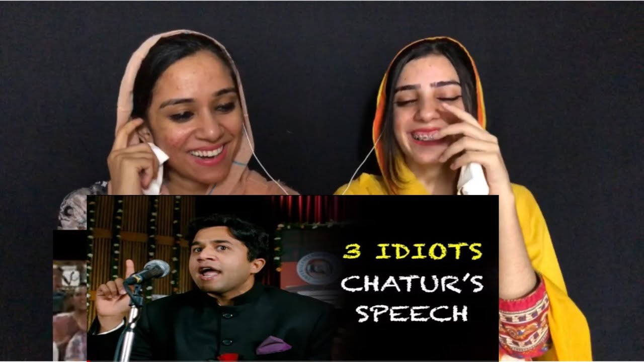 Chatur's speech - Funny scene | 3 Idiots | Aamir Khan | Pakistani reaction | Magisco | Nayab,Seher