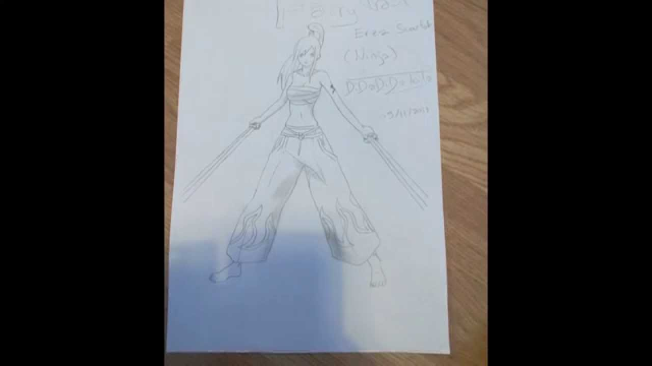 Comment dessiner erza de fairy tail en ninja youtube - Dessiner fairy tail ...