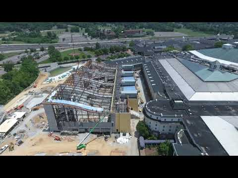 Opryland Hotel Nashville Overview via drone