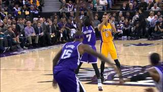 Kobe Bryant Soars Baseline for the Alley-Oop