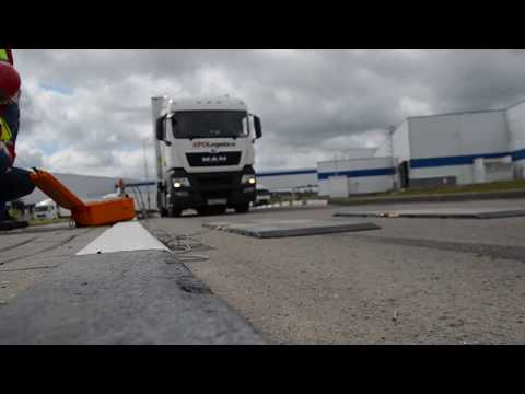 видео: Весовой контроль - взвешиваем тягач man рефрижератор schmitz