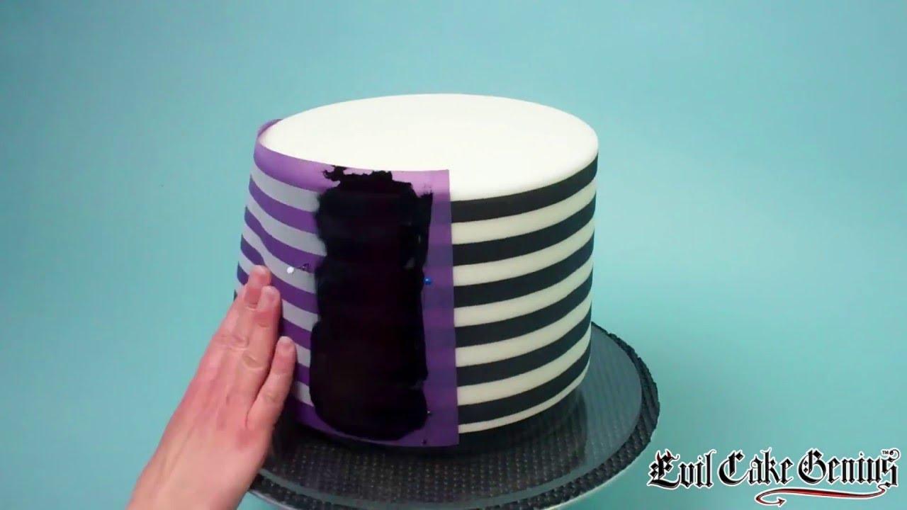 Evil Cake Genius Perfect Horizontal Stripes Cake Stencil