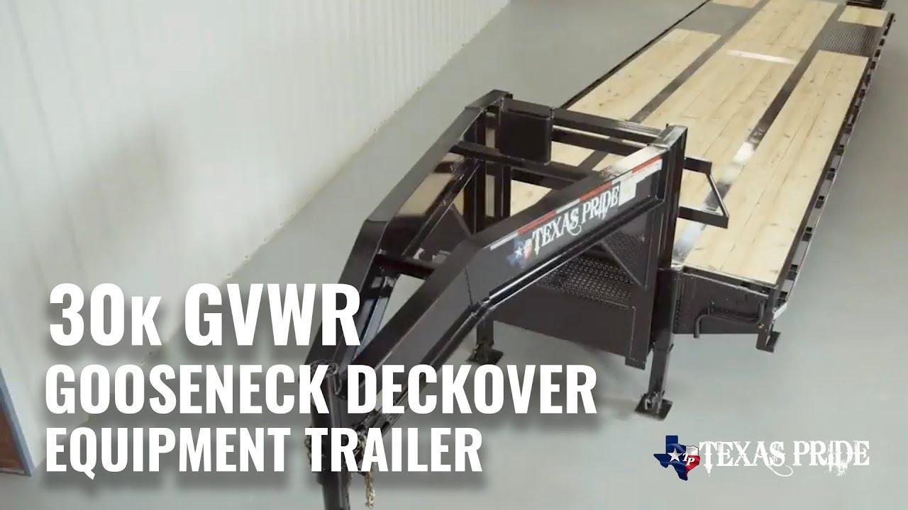 walk around 30k gooseneck flatbed equipment trailer texas pride trailers