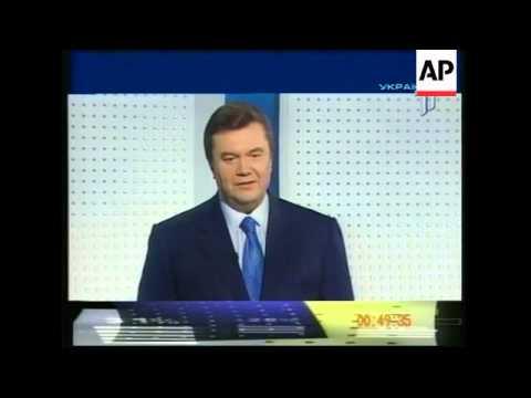 Yushchenko and Yukanovych in television debate