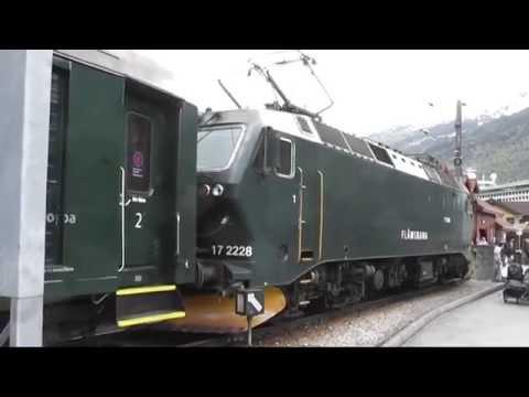 NSB E1 17 2228 & 2229 seen at Flam Railway...
