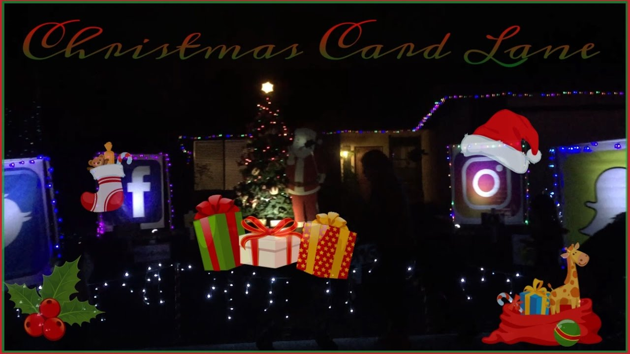 Christmas Card Lane 2016 Youtube