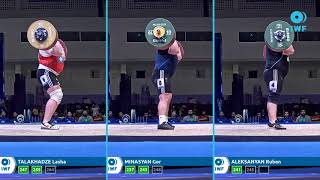 Clean & Jerk lifts comparison - IWF WC Pattaya - Men plus109kg