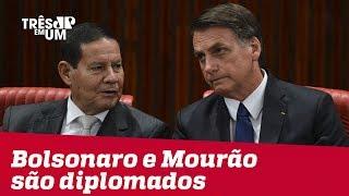 Jair Bolsonaro e General Mourão são diplomados pelo TSE