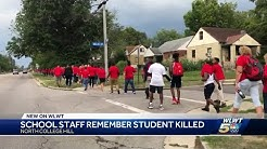 North College Hill staff walk to remember senior student murdered at park