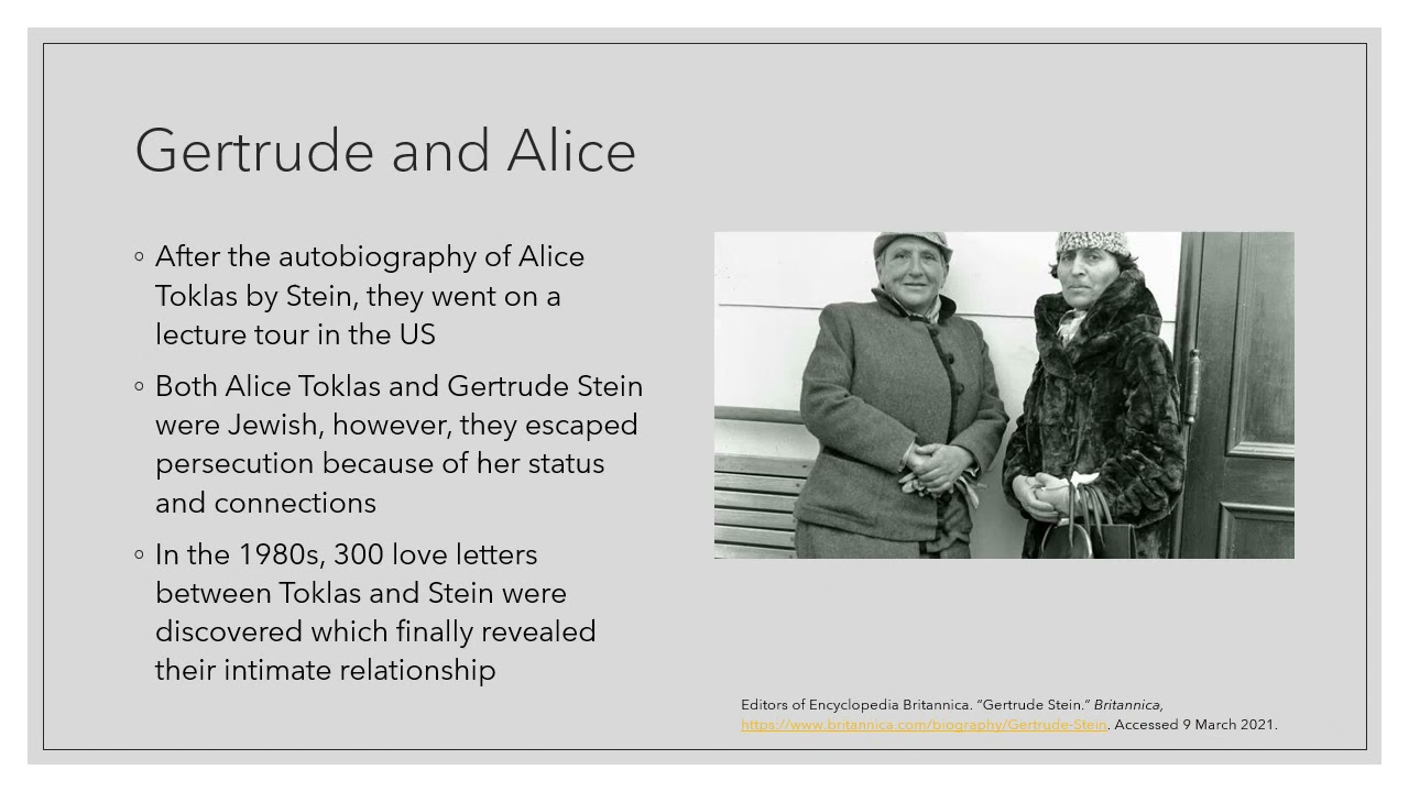 The Biography of Gertrude Stein