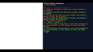 How to Split Strings in Javascript
