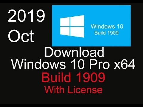 Download Windows 10 Pro X64 Build 1909 With License | Latest Version