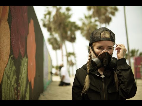 Making Mural On Venice Beach Public Wall