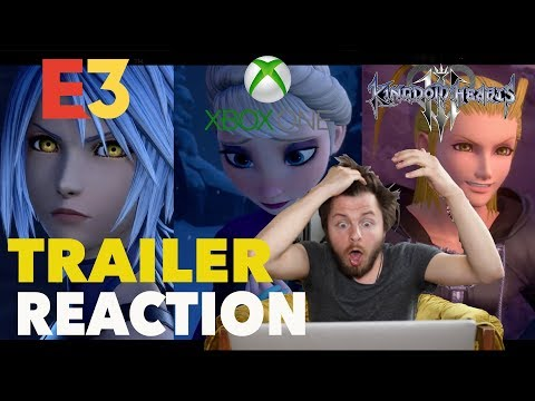 KINGDOM HEARTS 3 - E3 2018 X BOX REVEAL REACTION!
