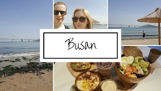 VLOG; beach trip - hotel room tour & exploring Busan!