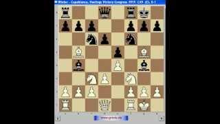 Шахматы. Капабланка 7. Дебют четырех коней(http://www.grinis.de/chessviewer/99_besten.htm - 99 лучших партий шахматной истории / 99 best chess games Поддержите канал eugnis22!, 2012-09-12T21:05:10.000Z)