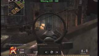 Call of Duty World at War Camper's Team Deathmatch 1(Carbine Camping)