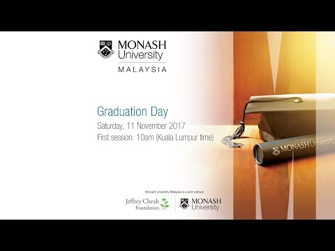 Monash Malaysia Graduation Day on 11 November 2017 (First Session)