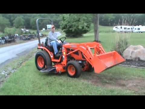 2017 Kubota B2620 Compact Tractor Loader Belly Mower 4x4 For