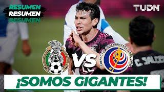 Resumen y goles   México vs Costa Rica   Amistoso Internacional 2021   TUDN