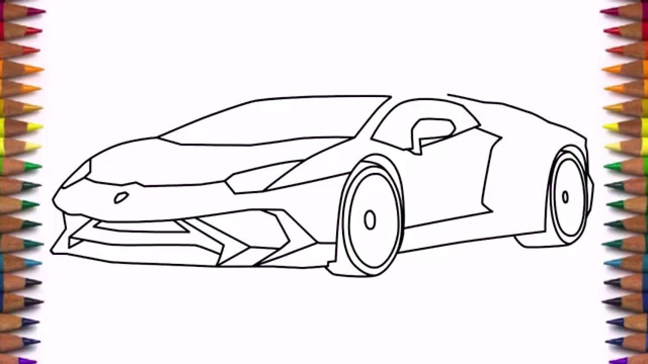 How to draw a car Lamborghini Aventador LP 750 4 step by ...