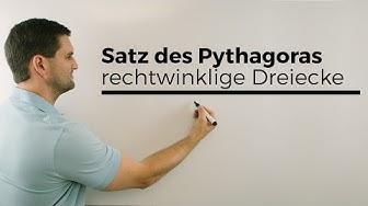 Satz des Pythagoras für rechtwinklige Dreiecke | Mathe by Daniel Jung