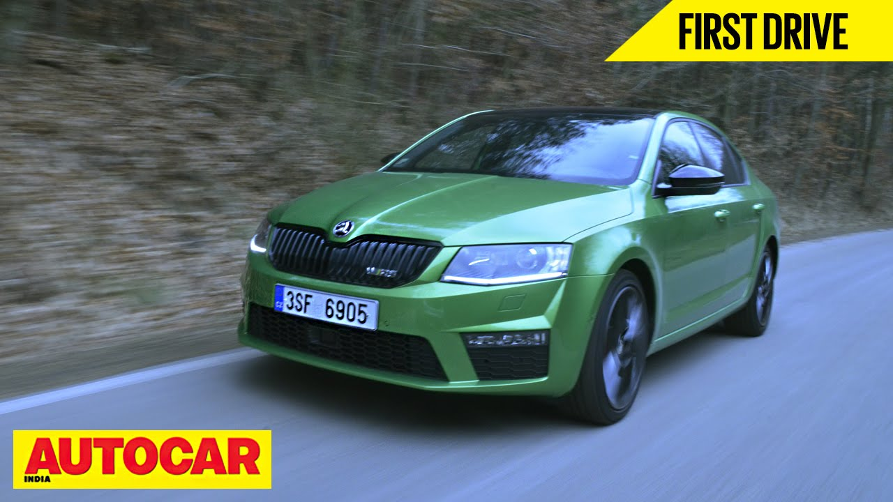 skoda octavia rs first drive autocar india youtube. Black Bedroom Furniture Sets. Home Design Ideas