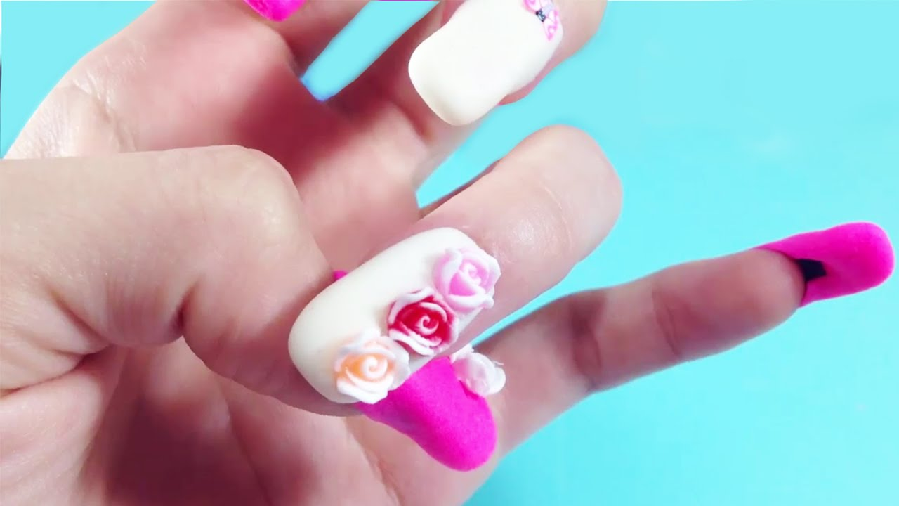 Nails Art Tutorial For Play Doh Nails and Tools To Create Amazing ...