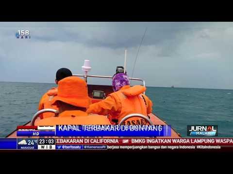 Tim SAR Evakuasi 22 Awak KM Golden Ocean yang Terbakar
