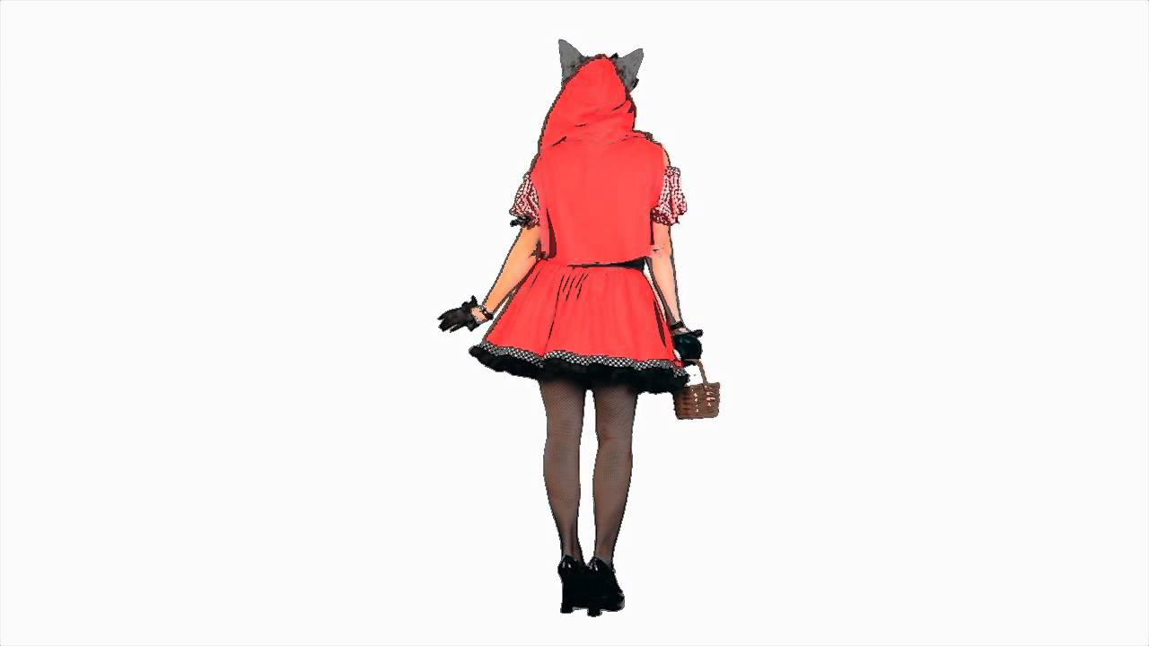 RED RIDING HOOD WOLF ADULT COSTUME  sc 1 st  YouTube & RED RIDING HOOD WOLF ADULT COSTUME - YouTube