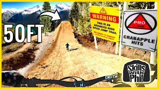 Sending the BIGGEST jumps at Whistler bike park on a TRAIL BIKE! | Crabapple Hits