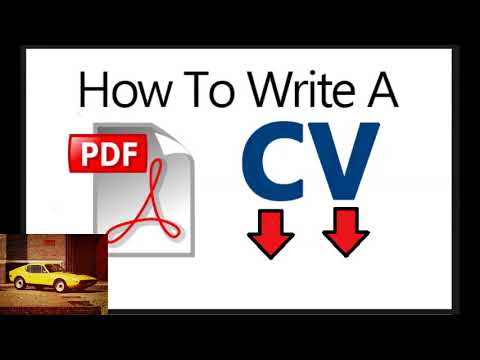 Tell Me How To Write Cv Pdf