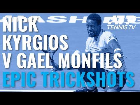 Nick Kyrgios vs Gael Monfils: Epic trickshot compilation!