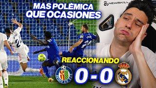 REACCIONES DE UN HINCHA Getafe vs Real Madrid 0-0 *ASÍ ES IMPOSIBLE*