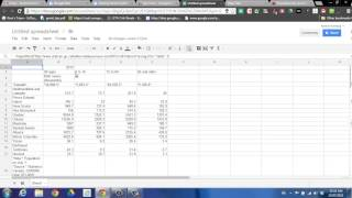 Importing Table Data from Website to Google Spreadsheet