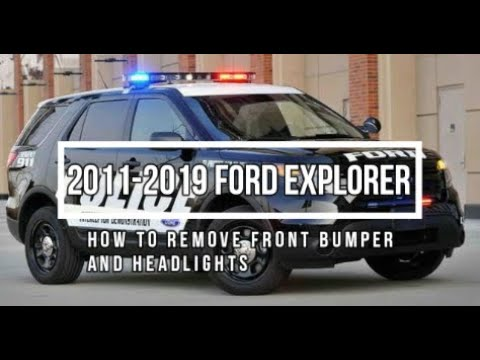 How to remove 2013 Ford Explorer Front Bumper and Headlights 2011-2019 - Body Shop Basics