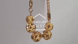 Jewelry NUVO Cross Flower Cutting Ball Neclace 01