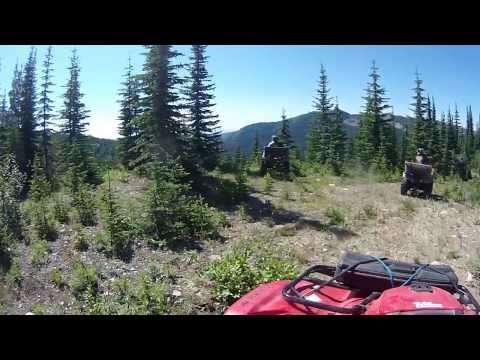 ATV Trail Riding in BC - Day 4 AM Ride - Lake/Cabin Hunting