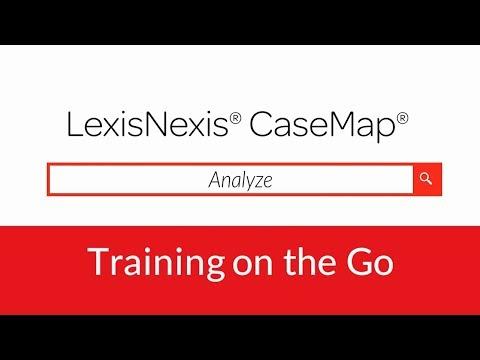 LexisNexis CaseMap - Analyze