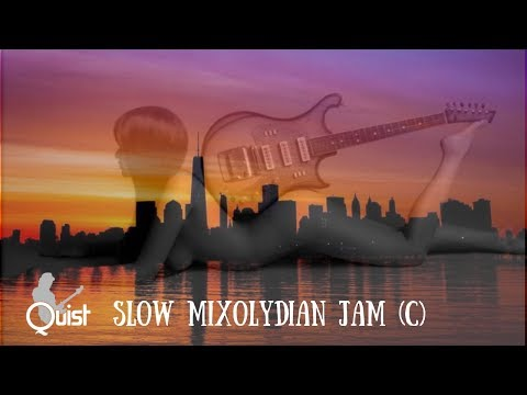 Slow Mixolydian Jam   Sexy Blues Guitar Backing Track (C)