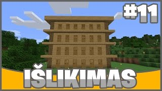 """Minecraft 1.11 išlikimas Lietuviškai #11 """"Didelis kaimiečių namas"""""""