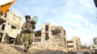 بالفيديو.. هذا ما فعله الجيش الروسي بالألغام في حلب