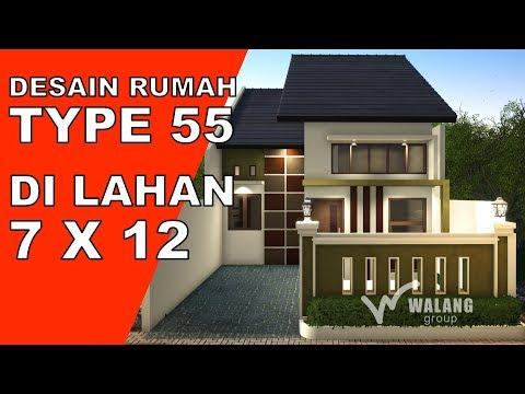 Desain Rumah Satu Lantai Lahan 7x12 Youtube