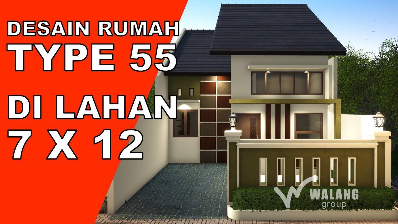 DESAIN Rumah Satu Lantai Lahan 7x12