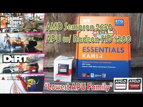 Amd Sempron 2650 Apu W Radeon Hd 8200 Game Test Youtube