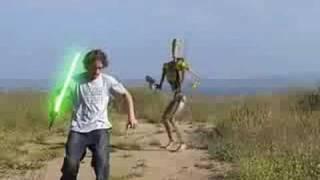 Starwars Battledroid and doug the jedi